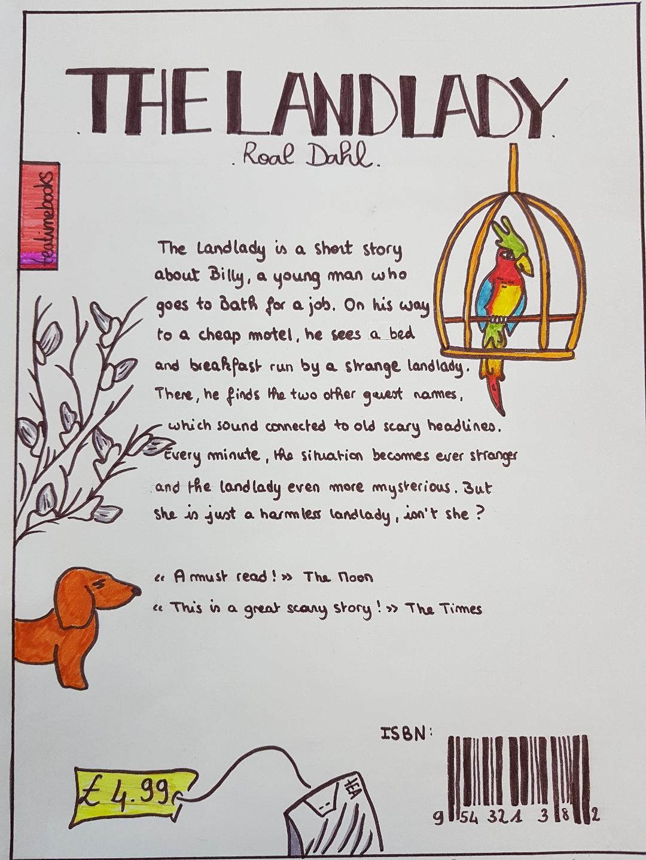 quatrième de couverture The Landlady colorée